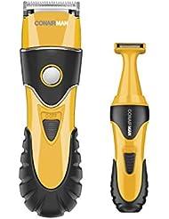 Conairman No-Slip Grip 20Piece Haircut Kit & Grooming Kit; Home Hair Cutting Kit, Trimmer, Body Groomer