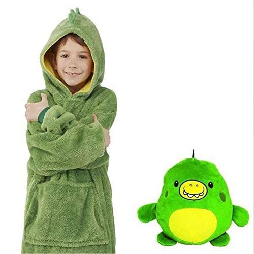 New Winter – Cute Warm Comfy Pets Hoodie, Pillow Lazy Children's Pullover Clothes (Green)