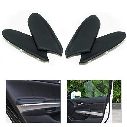 DDV - US - 4pcs New Leather Black Front & Rear Door Panels Armrest Skin Covers for Honda Accord 2008 2009 2010 2011 2012 ()