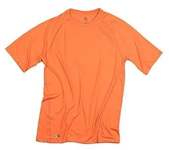 Adidas Men's ClimaLite Athletic T-shirt (Large Tall, Orange)