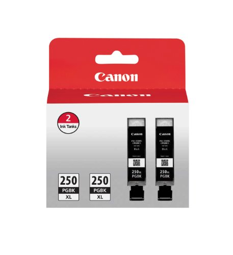 Canon Pgi 250Xl Pigment Black Ink  Twin Value Pack  Compatible To Mg5520  Mg6620  Mg5420  Mg5422  Mg5522  Mg5620  Mg6320  Mg6420  Mg7120  Mg7520  Mx722  Mx922  Ip7220  Ip8720  And Ix6820