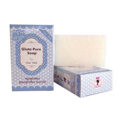 Gluta Pure Soap Whitening Skin Face&brightening Body/spf50++ 70 G (3pc)