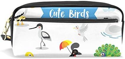 Ahomy Estuches para Niñas y Niños, Búho Pájaro Flamingo Woodpecker Peacock Pelican Bolso Bolígrafo Papelería Bolso de Maquillaje Monedero: Amazon.es: Oficina y papelería