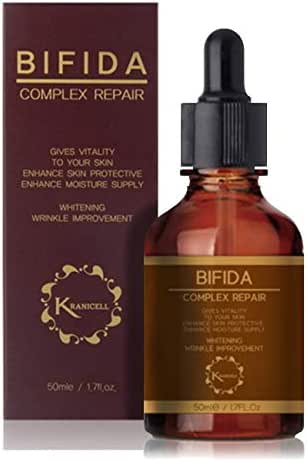 Kranicell Bifida Complex Repair Facial Serum 1.7floz with Galactomyces, Niacinamide, Hyaluronic Acid. Ceramide Face Serum for Skin Barrier Fortifying. Dual Functions of Total Anti Aging and Whitening