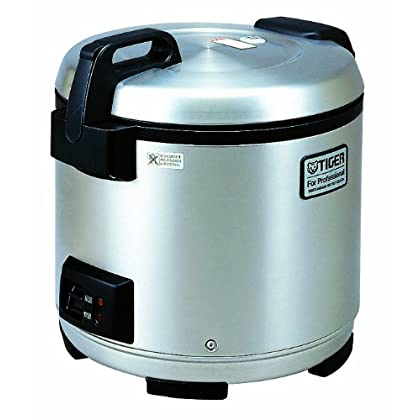 Image of Commercial Rice Cookers Tiger JNO-A36U-XB 20-Cup (Uncooked) Commercial Rice Cooker and Warmer, Stainless Steel Black