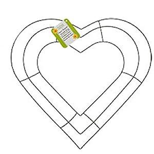 Floral Garden Heart-Shaped Metal Wreath Ring, 12 54