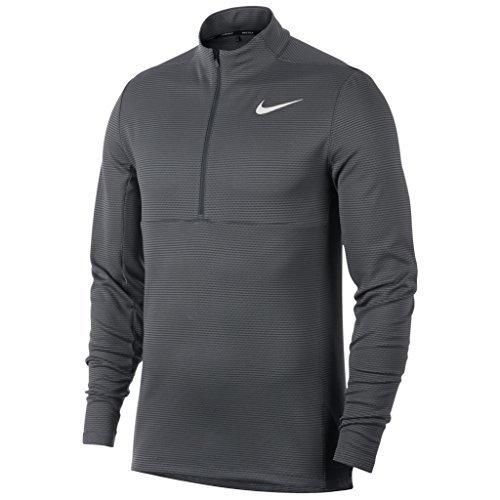 Nike AeroReact Top Half Zip Golf Pullover 2017 Dark Gray/Black/White Large - Half Zip Stretch Pullover