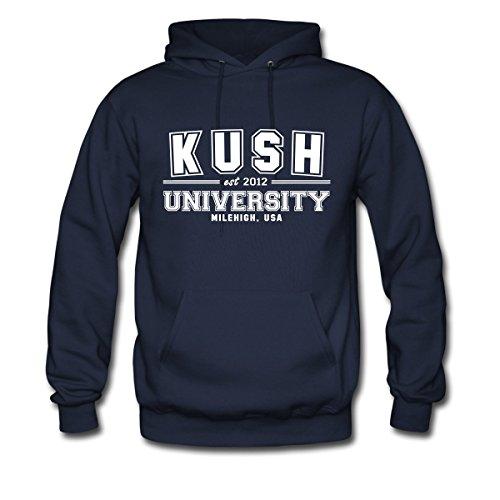 Spreadshirt Kush University Milehigh Men's Hoodie, L, Navy
