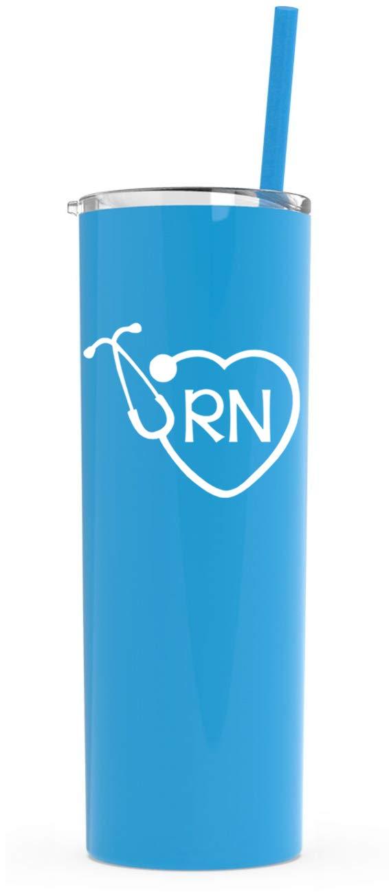 今季一番 RN Tumbler Cup and with Lid and Lid Straw |看護師ギフト ブルー RN アクア B07CH265G9, アチムラ:5b307421 --- beyonddefeat.com