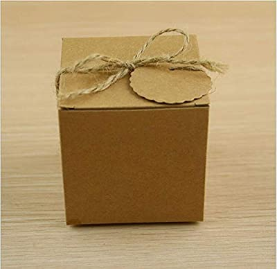 Earthware eco Friendly Bags Sugar Bag Retro Kraft Paper DIY Candy Box 100pcs EC232