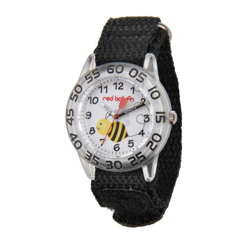Red Balloon Kids' W001477 Plastic Analog Display Quartz Black Nylon Strap Watch