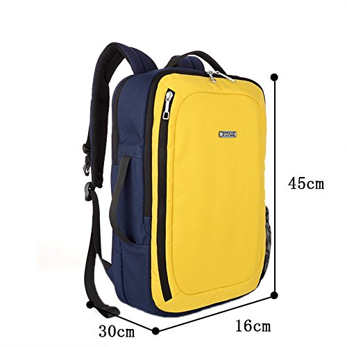 Genda 2Archer Unisexo Estilo Caliente 15,6 pulgadas Portátil y Tablet Mochila Mochila con estilo Tote (Naranjo) Amarillo