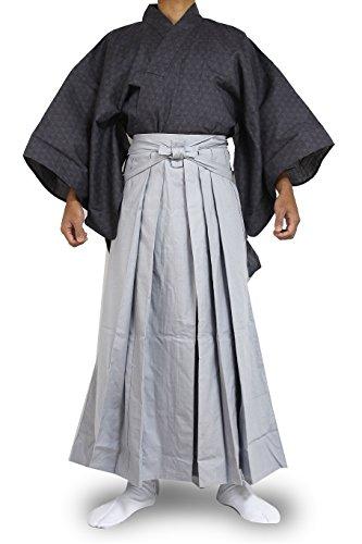 Edoten Japanese Samurai Hakama Uniform 1772GY-GY L]()