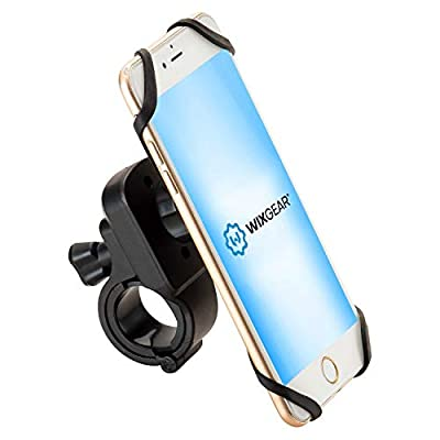 Magnetic Bike Mount, WixGear Universal Magnetic Bicycle & Motorcycle Handlebar Phone Holder for Cell Phones and GPS with Fast Swift-Snap Technology, Magnetic Bike Phone Holder