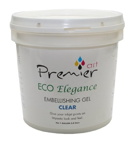 Gel Museum Clear - PremierArt ECO Elegance Embellishing Gel Clear 1 Gallon