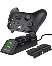 Xbox one Controller Charger 2 x 800mAh Rechargeable Battery Packs for Xbox One/One S/One X/Xbox Elite Controller Charging Station Xbox Dual Remote Charge Dock by BEBONCOOL