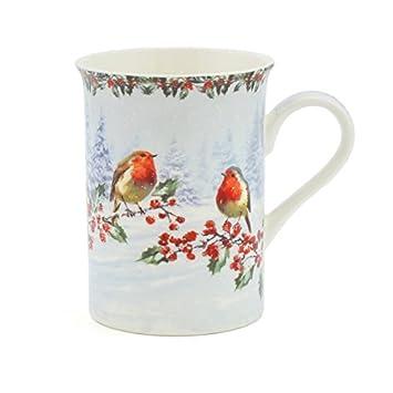 Rouge Boite De En Noël Tasse Porcelaine CadeauAmazon Fine Gorge wnkP0O