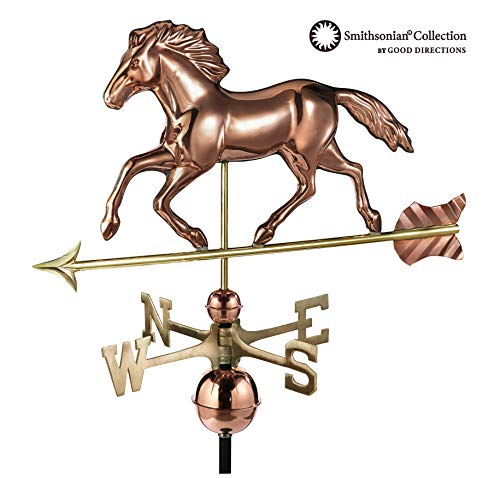 - Good Directions Smithsonian Running Horse Weathervane, Pure Copper