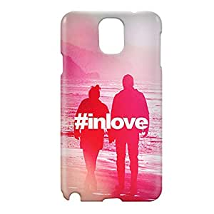 Loud Universe Samsung Galaxy Note 3 3D Wrap Around Hashtag In Love Print Cover - Multi Color