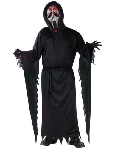 Ghost Face Costume Kids (Bleeding Zombie Ghost Face Child Costume - Large)