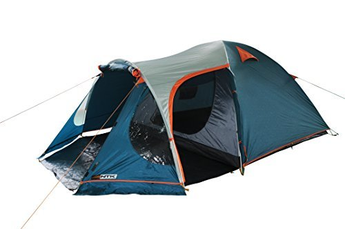 NTK INDY GT 4 to 5 Person 12.2 by 8 Foot Outdoor Dome Family Camping Tent 100% Waterproof 2500mm European DesignEasy Assembly Durable Fabric Full Coverage Rainfly - Micro Mosquito Mesh [並行輸入品]   B072Z7YTM4