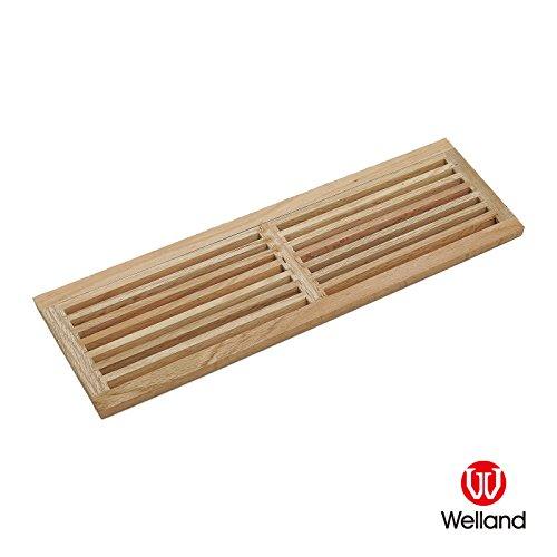 WELLAND Red Oak Hardwood Register Cold Air Return Wall Vent (32-Inch, Red Oak) (Wall Hardwood)