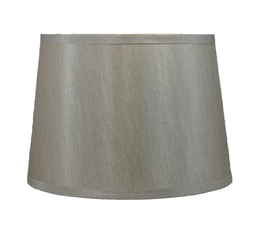 Urbanest French Drum Lampshade, Faux Silk, 12-inch By 14-inc