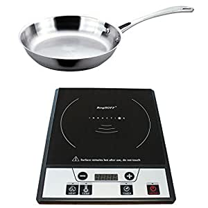 Berghoff Tronic Power Induction Stove with Stainless Steel Fry Pan, Silver