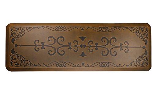 AMCOMFY Kitchen Anti Fatigue Mat,Comfort Floor Mats,Standing Desk Mats,Antique Series (24''x70''x3/4'', Love Flower Brown) by Amcomfy