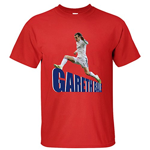 WDFO Gareth Bale Cheer On Custom Men T Shirt Cotton red ()