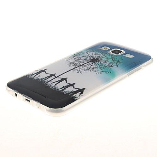 Qiaogle Teléfono Caso - Funda de TPU silicona Carcasa Case Cover para Samsung Galaxy Trend 2 Lite SM-G318H / SM-G313H - TX41 / Azul Dont Touch My Phone TX42 / Negro Diente de león