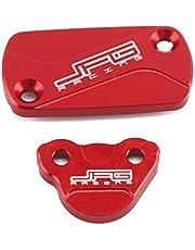 CNC Billet Front Rear Brake Reservoir Fluid Cover Cap For HONDA CRF150R CR125R CR250R CRF250R 04-18 CRF250X 04-17 CRF450R 02-18 CRF450X 05-17 CRF450RX CRF 150R 250R 250X 450R 450X 450RX Dirt Bike