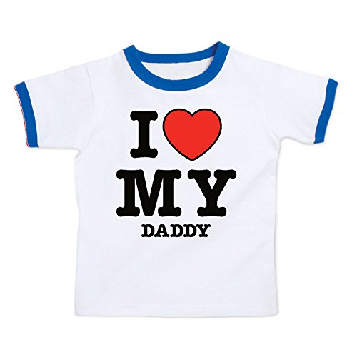 (We Match! I Love My Daddy (Red Heart) Toddler & Kids T-Shirt (Royal Ringer, 5/6T))