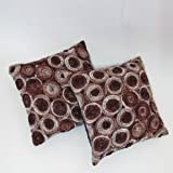A pair of Beautiful Thai Silk Pillow Covers for decorate Living Room, Bed Room, Sofa, Car / Size 16 X 16 Inches Code 3053