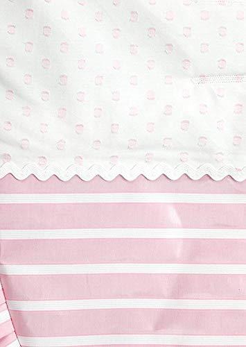 Babyline Oporto - Colchoneta para silla de paseo, color rosa bebe
