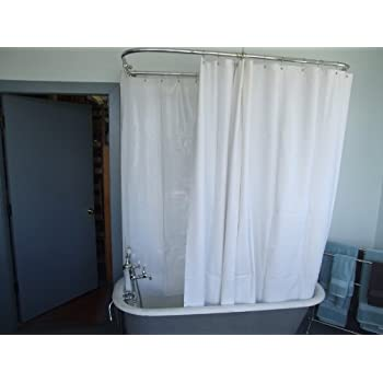 shower curtain liner for clawfoot tub. Extra Wide Vinyl Shower Curtain for a Clawfoot Tub white Less Magnets 180  X Amazon com