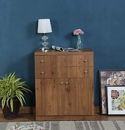 Shilpi Handmade Multipurpose Storage Double Door & Chest of Drawers in Natural Premium Teak Board