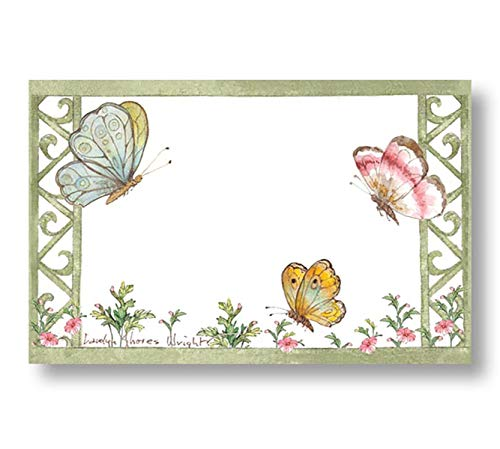 burton+BURTON Butterfly Garden Splendor Enclosure Cards, and Butterfly Accent, Place Cards ()
