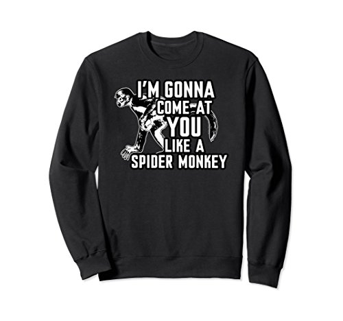 Black Spider Monkey - Unisex Talladega Nights I'm Gonna Come At You Like A Spider Monkey Medium Black
