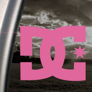 DC SHOES USA Pink Decal Car Truck Bumper Window Pink Sticker