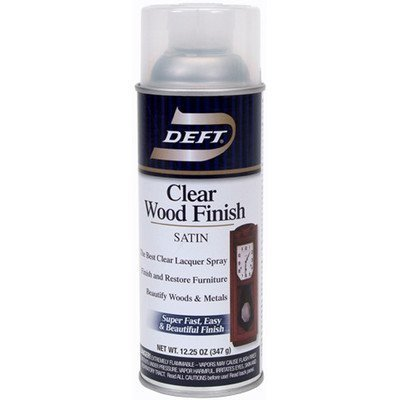 Deft Clear Lacquer Wood Finish Satin Clear 12.25 Oz by Olympic-Ppg Architectural