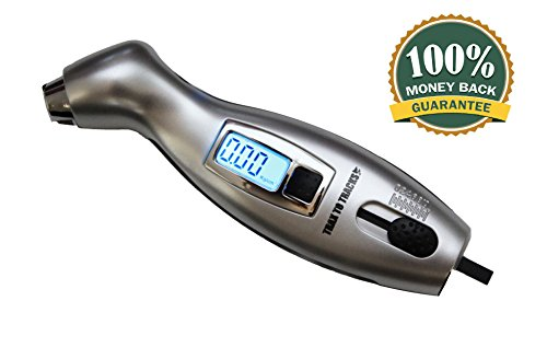Digital Tire Pressure Gauge & Tread Depth Gauge - For Car Motorcycle Truck Auto RV Bicycle. Accurate, Large, Easy to Read - Bright LCD Screen. Dual Use - DOUBLE VALUE - SAVE MONEY and LIVES Today!! (Walmart Tires compare prices)