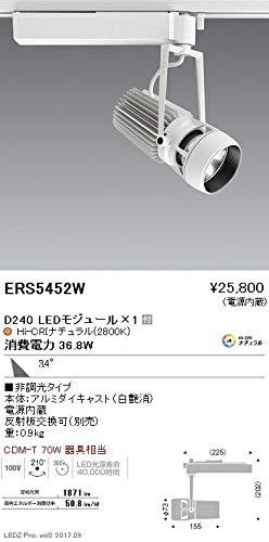 ENDO LEDスポットライト 配線ダクトレール用 CDM-TC70W相当 2800K Ra98 広角 白 ERS5452W (ランプ付)   B07HQDHWFB