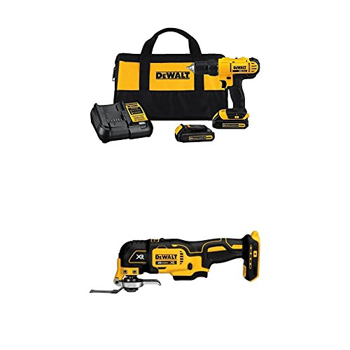 Dewalt DCD771C2 20V MAX Cordless Lithium-Ion 1/2 inch Compact Drill Driver Kit with Oscillating Tool
