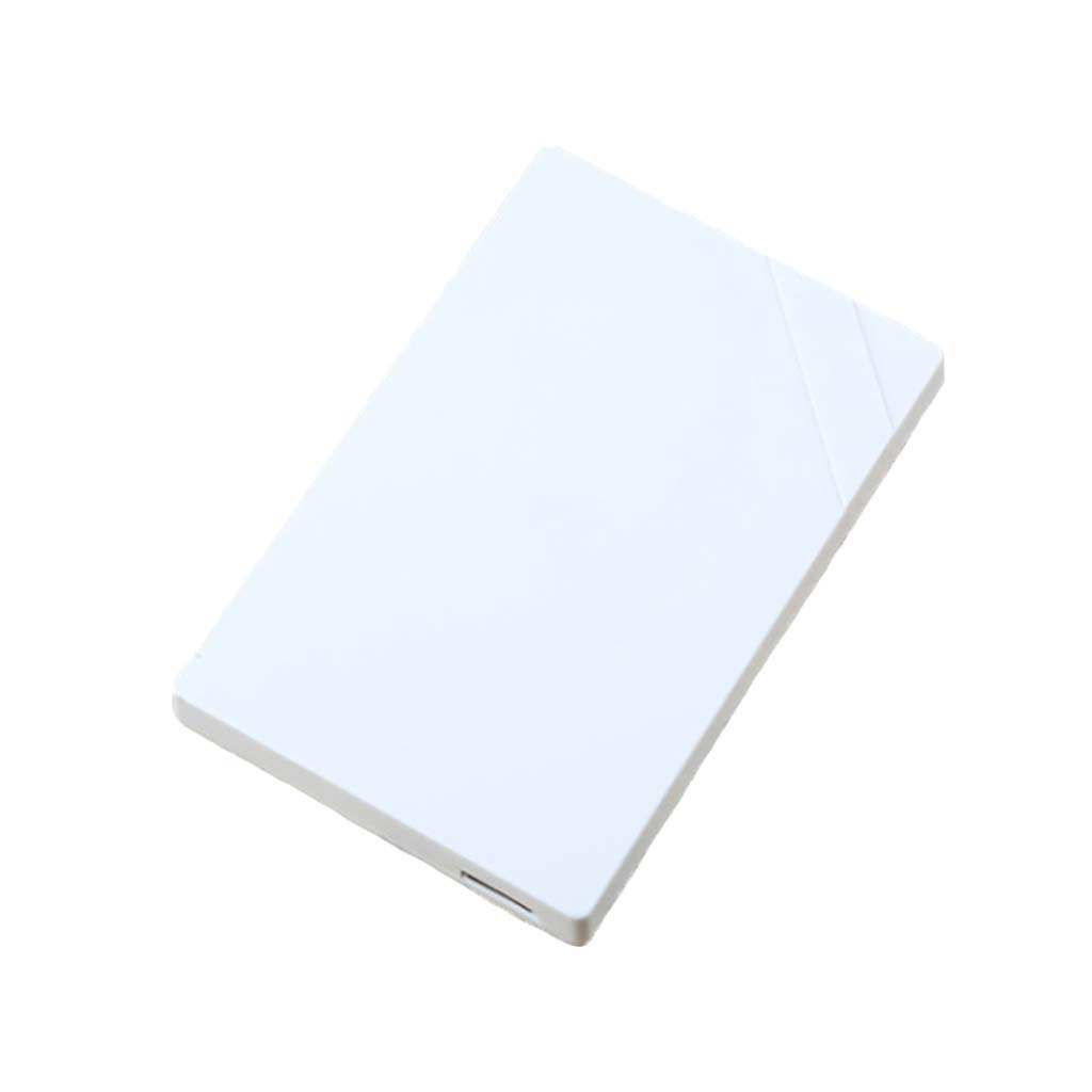 Solid State Drives Mobile Hard Disk, Large Memory Mobile High-Speed Transmission USB 3.0 Hard Drive Memory White (Size : 60GB)
