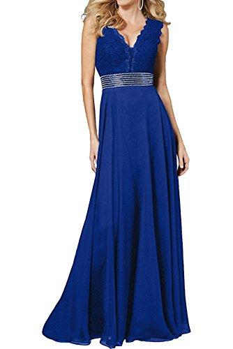 La Champagner Braut Royal Chiffon Langes Hochwertig Abendkleider Spitze Damen Blau Marie Kleider Promkleider Damen Ballkleider Ewr4FSqE
