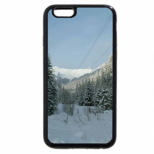 iPhone 6S Case, iPhone 6 Case (Black & White) - Row of Tall Evergreens