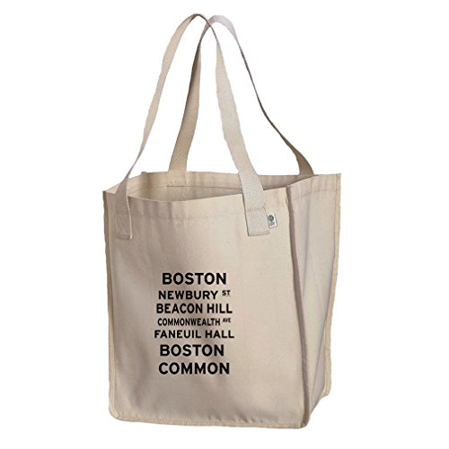 Boston Newbury St Organic Cotton Canvas Market Tote - Newbury Shopping
