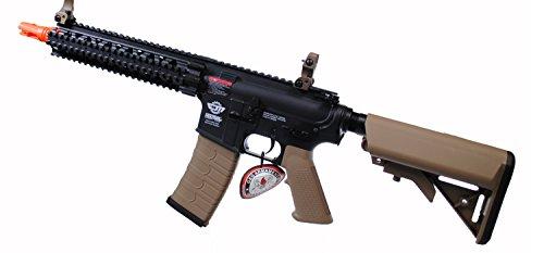 G&G CM18 MOD1 Combat Machine AEG Metal Gears Airsoft Gun - Black by G&G