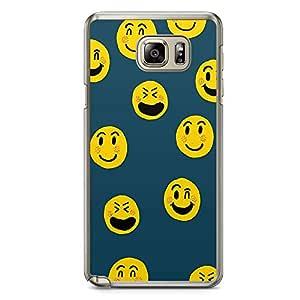 Samsung Note 5 Transparent Edge Phone Case Emoji Phone Case Smileys Phone Case Pattern